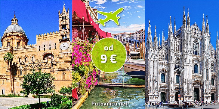 Letovi Split - Italija već od 9,00 eura