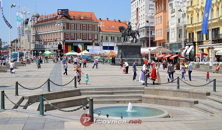 Fan zona 'Uvijek vjerni' na Trgu bana Jelačića