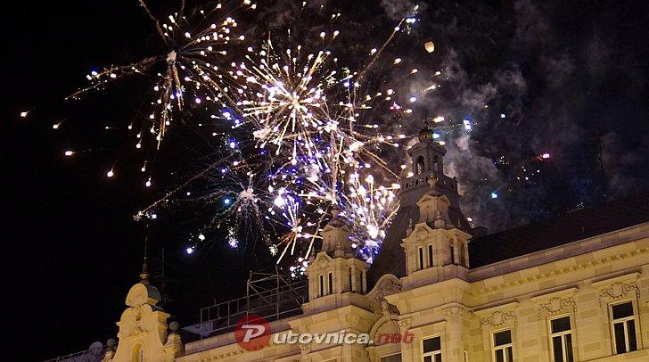 Doček nove godine na Trgu bana Jelačića u Zagrebu
