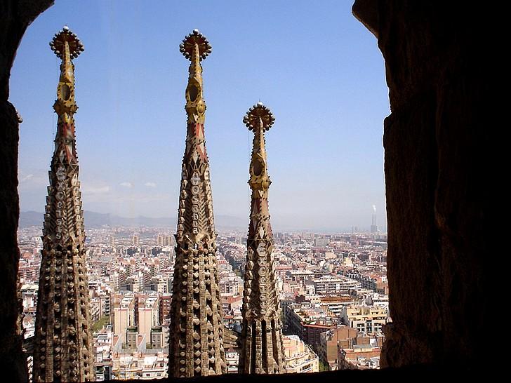 Pogled s krova Sagrada Familie