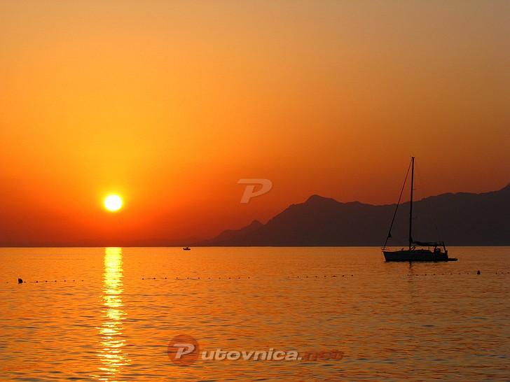 Makarska - Zalazak sunca