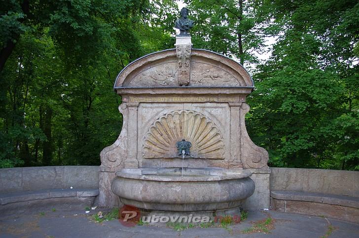 Munich Erhardt Fountain At Maximilian Bridge Photo
