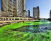 Zelena rijeka u Chicagu za Dan sv. Patrika; © Mike Boehmer (Wikimedia, CC BY-SA 2.0)