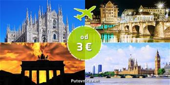 Letovi već od 3,05 eura