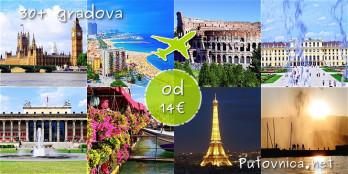 Neki od gradova u koje se iz Dalmacije leti već od 14-60 eura