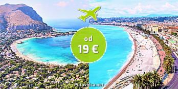 Letovi za Azurnu obalu i Siciliju već od 19 eura