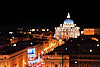 Night view of Vatican from Castel Sant'Angelo