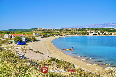 Caska (Pag): beaches and coves