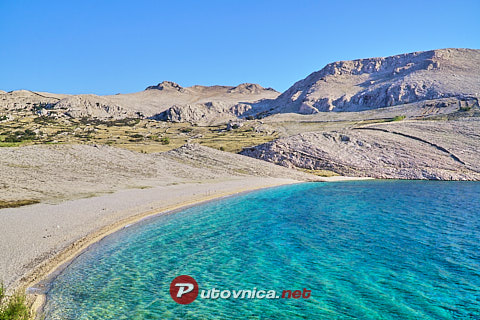 Ručica Beach, Metajna (Pag)