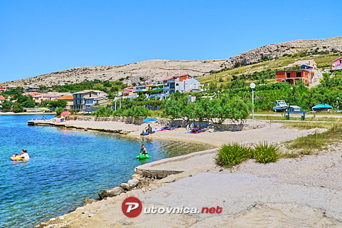 Dinjiška (Pag): beaches and coves