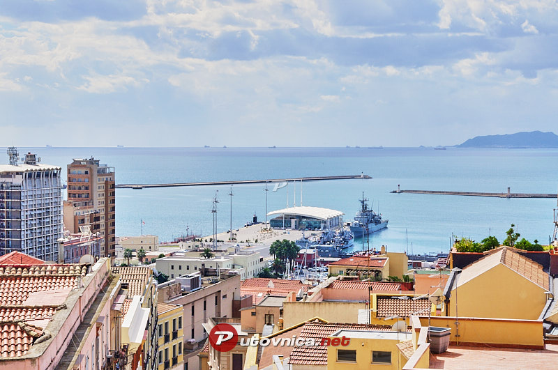 Cagliari: View of Cagliari from Saint Remy Rampart