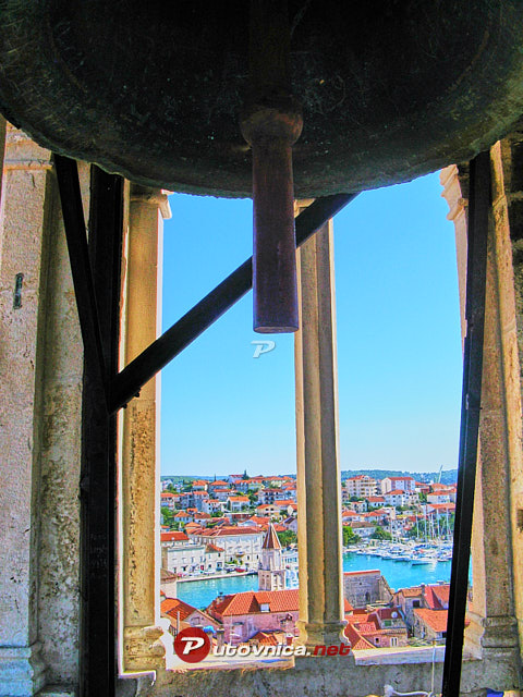Trogir: View from bell tower of St. Lawrence's Cathedral
