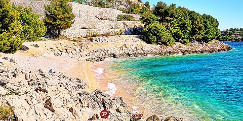 Drage (Pakoštane): beaches and coves
