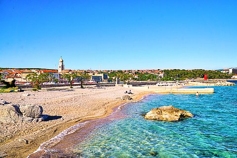 Krk (Krk): beaches and coves