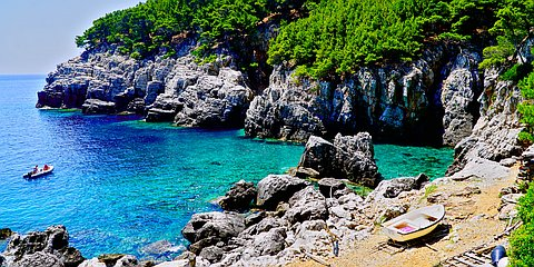 Ropa (Mljet): beaches and coves